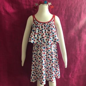 Limited Too Polka Dot Cotton Knit Dress- 6